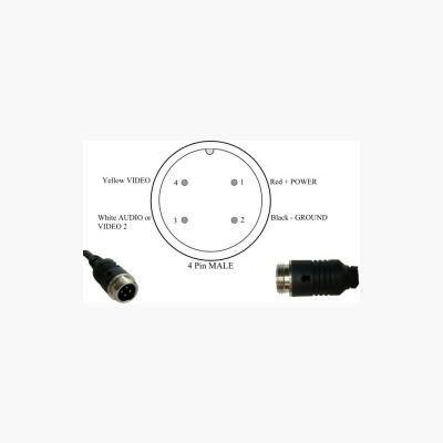 Cable mount plug & socket set male 4 pin drawing