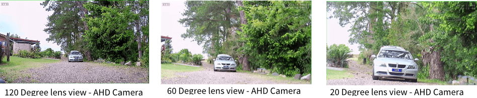CH AHD4HD 120 degree view Vs 60 Vs 20 Image