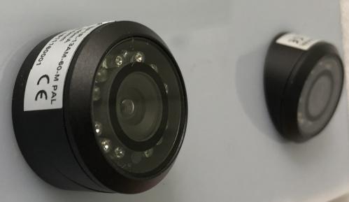 dual vehicle reversing camera, flush mount