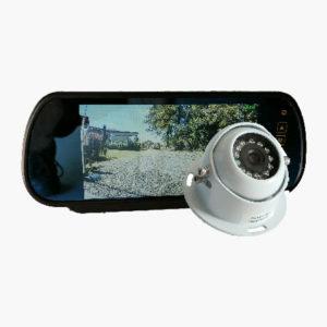 vehicle rear vision mirror with reversing camera kit