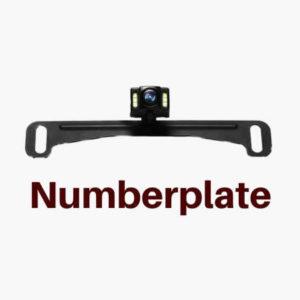 NPLED reversing camera above Number plate