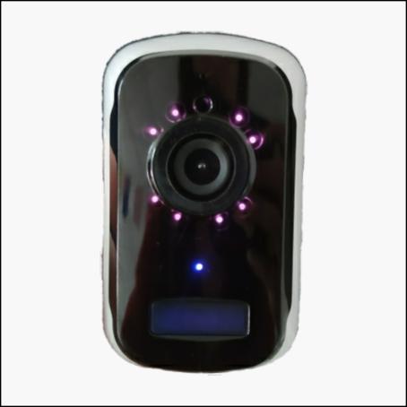 Mini security camera with IR lighting